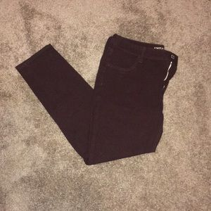 American Eagle brown/purple jegging